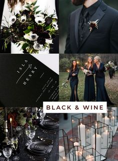 Black and Wine Chic Halloween Wedding theme inspiration from. Best Picture For enchanted Wedding T Up Imagenes, Our Wedding, Dream Wedding, Summer Wedding, Wedding Black, Black Wedding Themes, Gothic Wedding Ideas, Pink Black Weddings, Gothic Wedding Rings