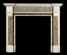 neoclassical verde marble fire surround