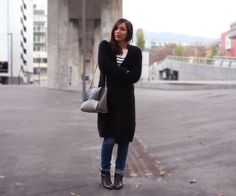 Versa Versa bag, COS sweater, Iro jeans and Kookai marinière #french