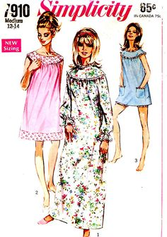 60s Mod babydolls nightgowns bloomers lingerie vintage by HeyChica