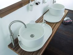 COUNTERTOP ROUND CERAMIC WASHBASIN WITH OVERFLOW UKIYO-E COLLECTION BY OLYMPIA CERAMICA