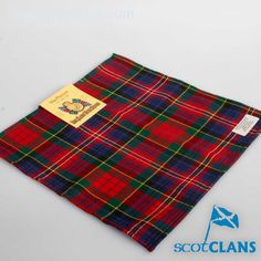 McPherson Modern Tartan Pocket Square. Free worldwide shipping available