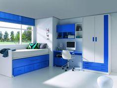 Desk Ideas Diy Bedrooms, Box Room Bedroom Ideas, Cool Kids Bedrooms, Small Room Bedroom, Home Room Design, Kids Room Design, Dream Home Design, Bedroom Cupboard Designs, Bedroom Cupboards