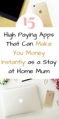 Here are 15 apps that can help youmake money online instantly. Earn money with these highest paying apps. These money making ideas for stay at home mums can help you earn extra cash from home by Laura at Savings 4 Savvy Mums. Cash From Home, Earn Money From Home, Make Money Fast, Work From Home Moms, Earn Money Online, Online Jobs, Earn Extra Cash, Extra Money, Cash Today