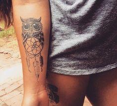 Arm tattoo//owl tattoo- Pinterest name~ ashleighpaddy