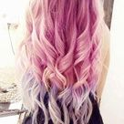 Pink and lilac hair extensions