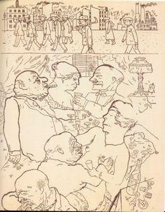 George Grosz, Früh um 5 Uhr (À cinq heure du matin), 1920, Berlin, Galerie Pels-Leusden