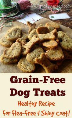 Grain-free Dog Treats for Flea Free & Shiny Coat Recipe