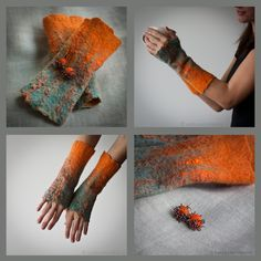 Just was kind of away for a while. At least away from blogging. And here is my new addiction - arm warmers... Love their making process ... ...