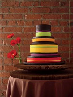 Brides: Party in the Kitchen! : not for a wedding but maybe an event.. Nice pops of colors...