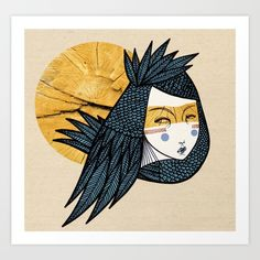 Indian bird Art Print by Elena Mir | Society6