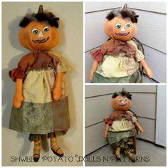 FCCTeamHAHA Primitive Round Head Pumpkin Lady by shweetpotatodolls