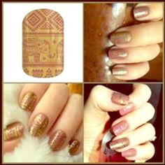 """JAMBERRY Manicure Nail Wraps """"Marsala Palace"""" 1 Full Sheet of Jamberry Nail Wraps in the pattern """"Marsala Palace"""". This romantic wrap features delicate marsala designs against a gold satin background. Enough for up to 2 manicures + 2 pedicures + many accent nails. Jamberry Accessories"""