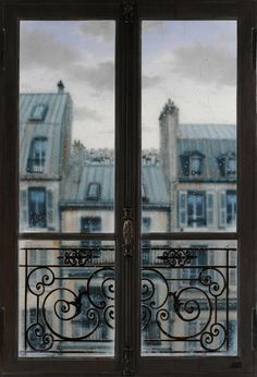 "From Blue Pueblo: ""Rainy Day, Paris, France"" I love picture windows! Paris France, Paris Paris, Paris Cafe, Little Paris, I Love Paris, Paris Apartments, Parisian Apartment, European Apartment, European Homes"