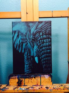 Acrylic painting of an African elephant
