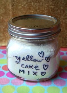 Make your own cake mix recipe. Be sure to add 1 tsp of vanilla to the mix when baking the cake.