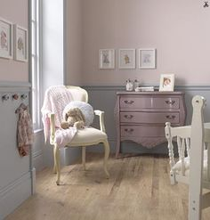 Dusky pinks like Satin Bow not only create a sophisticated effect for adults rooms but are ideal for nurseries. Its chalky quality gives the room a nurturing feel, perfect for your little ones. Why not add a soft blue like Steel Symphony 4 to really enhance this muted pink.