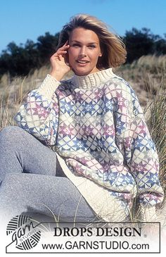 """DROPS 36-15 - Drops Fair Isle and Cable Sweater in """"Karisma Superwash"""" - Free pattern by DROPS Design"""