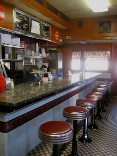 Pristine vintage diner interior - the Frazer diner, Malvern PA