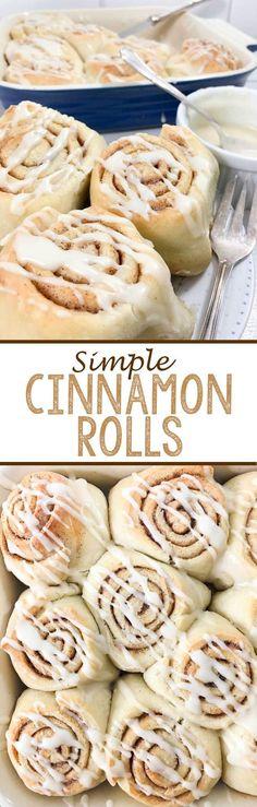Simple Cinnamon Rolls - Eazy Peazy Mealz