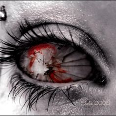 crazy black and red eye