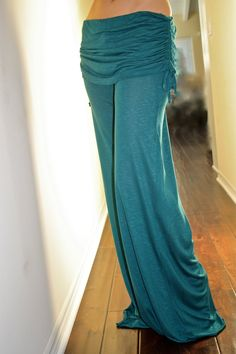 Cinch WideLeg Yoga Pants S M L by ShilohClothing on Etsy, $55.00