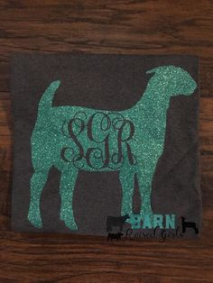A personal favorite from my Etsy shop https://www.etsy.com/listing/483499517/monogrammed-show-goat-shirt-show-mom