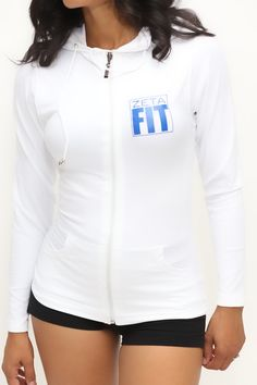 FIT Zeta Warm-Up track jacket, white