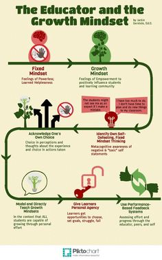Interesting Visual- Teacher with Growth Mindset Vs Teachers with Fixed Mindset