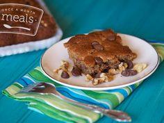 Paleo Chocolate Chip Cookie Cake- #paleo #dessert ......sub honey with stevia