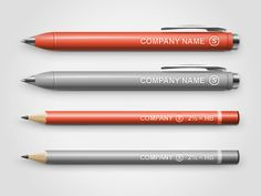 Pen/Pencil Mock-up by Vlade Dimovski