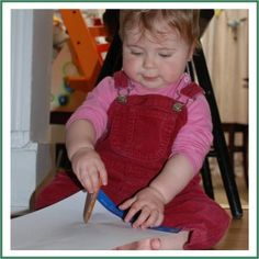 Kids Crafts - Baby Can Draw! Drawing with babies ~ it can be done!