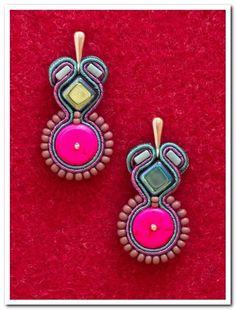 Soutache LITTLE GIRLFRIEND earrings. $35.00, via Etsy.