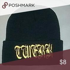 Twerkin beanie *New Black and gold beanie Accessories Hats