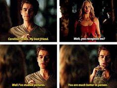 "#TVD 5x04 ""For Whom the Bell Tolls"" - Caroline & Stefan"
