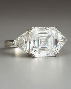 diamond rings, accessori, diamonds, asscher cut, engagements