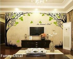 An autumn's fale----Vinyl Wall Decal Tree Wall Decals Wall stickers Nursery wall decal chrildren's wall decals ( Welcome to custom). $86.00, via Etsy.