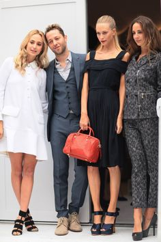 The fashion pack — Derek Blasberg, Poppy Delevingne and co. posed for the photogs.