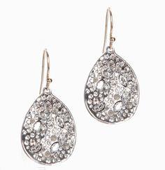 Alexis Bittar rystal-encrusted rhodium earrings