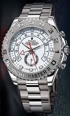 Rolex Yacht Master II Regatta Flyback Chronograph White Gold Ref 116689. Yes I So Want This!!!