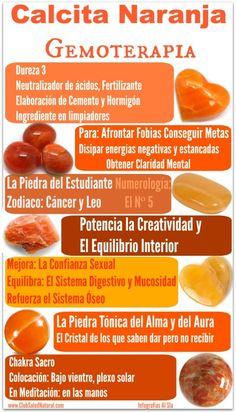 Calcita Naranja- Club Salud Natural #minerales #gemas