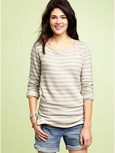 Gap striped terry sweatshirt T...I can picture myself living in this.