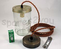Assembled single drop Jam Jar Light Kit