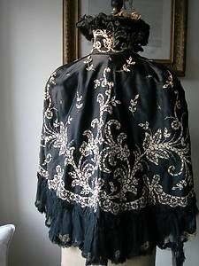 Silk and sequined Victorian Cape