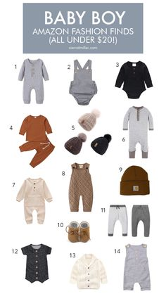 Trendy Baby Boy Clothes, Cute Baby Boy Outfits, Toddler Boy Outfits, Kids Outfits, Amazon Baby Clothes, Baby Boy Style, Toddler Boys, Clothes For Boys, Little Boy Style