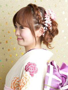 【振袖&袴&浴衣】横顔も魅力的な着物美人【髪型/ヘアアレンジ】