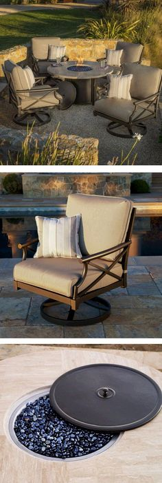 Inspired by the beautiful Santa Barbara region with its unique design influence and a classic vibe that never goes out of style, the Travers 5 piece Fire Pit set will be the perfect accent to your outdoor living spaces.