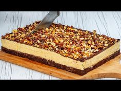 Kinder Bueno fara coacere! Nu ai mai gustat asa ceva! - YouTube Kinder Bueno Recipes, Chiffon Cake, No Bake Desserts, Butcher Block Cutting Board, No Bake Cake, Baking Recipes, The Creator, Appetizers, Chocolate