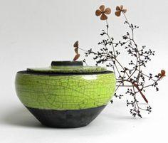 RAKU Dose, Gefäß von keramikFORM auf DaWanda.com