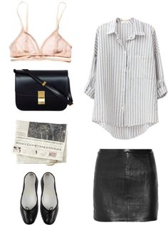 Stripes k by andreaceja featuring a long sleeve blouse ❤ liked on Polyvore